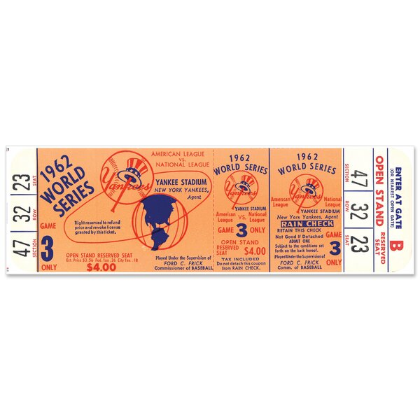 Mustang Product New York Yankees 1947-1962 World Series Tickets to History Photo Framed