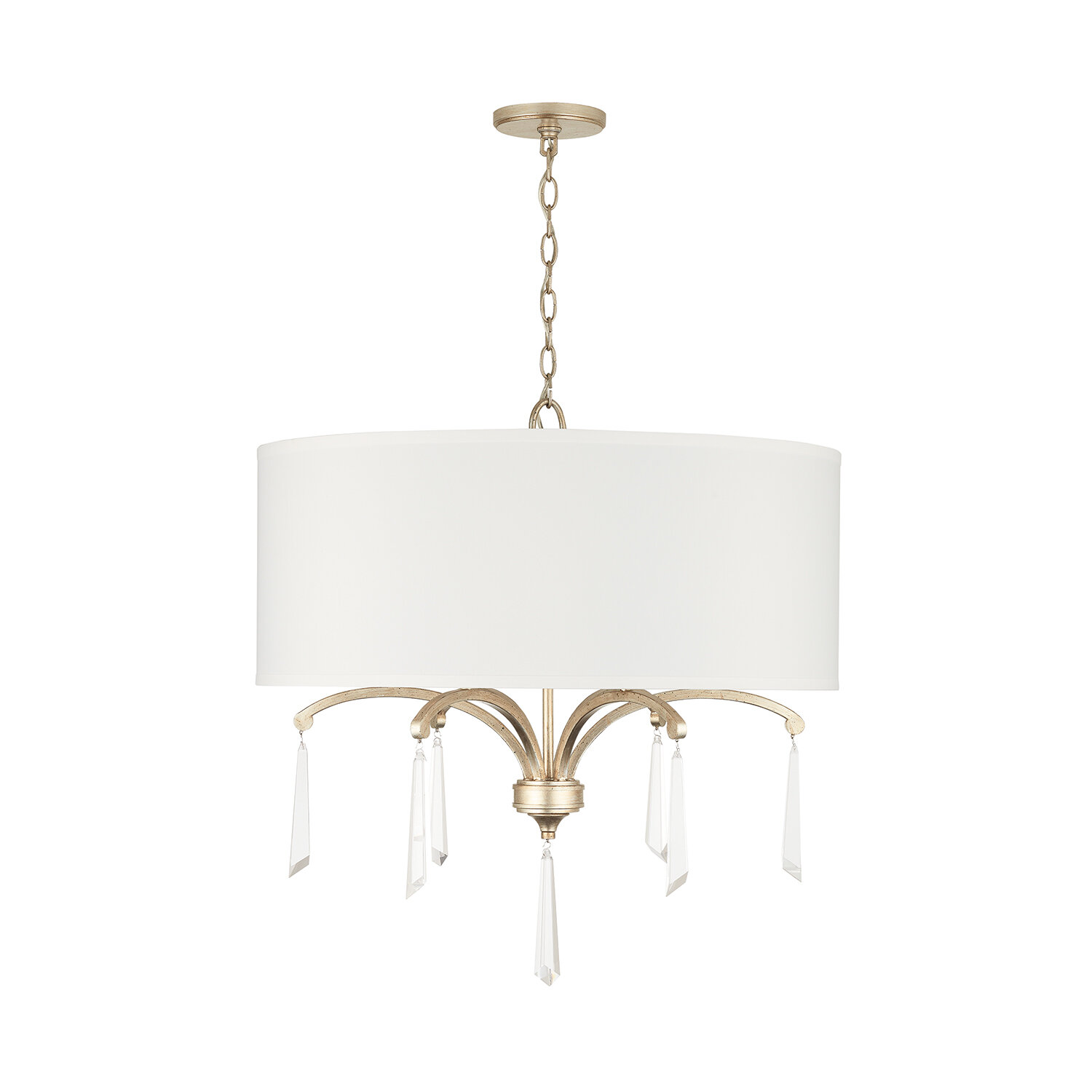 Image of: Rosdorf Park Mathilde 6 Light Shaded Drum Chandelier Crystal Accents Wayfair