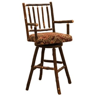 Cleary Swivel Bar  Counter Stool by Loon Peak