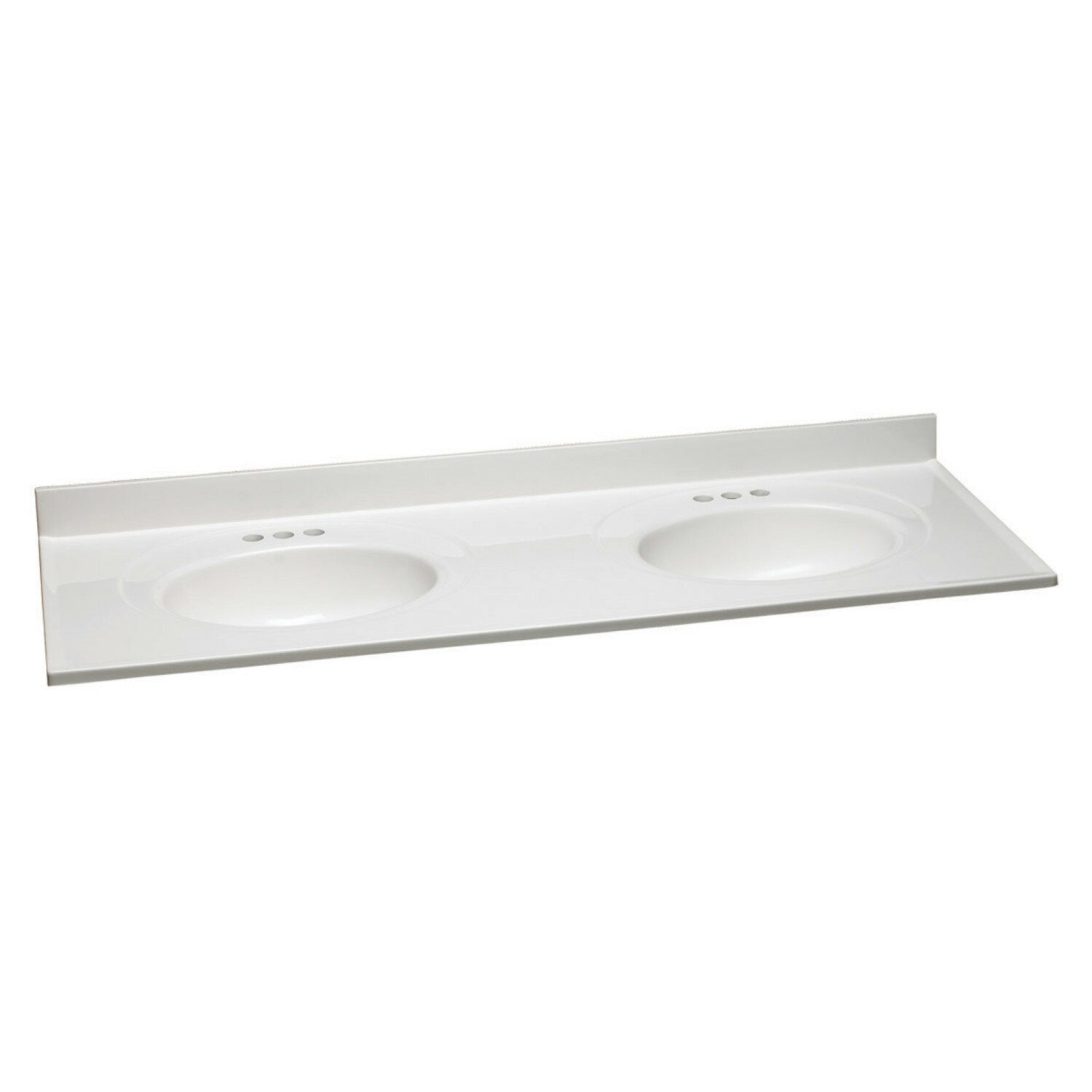 Design House 61 Double Bathroom Vanity Top In Solid White With Sink Wayfair