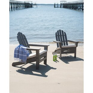 Cape Cod Plastic Folding Adirondack Chair by Trex Outdoor