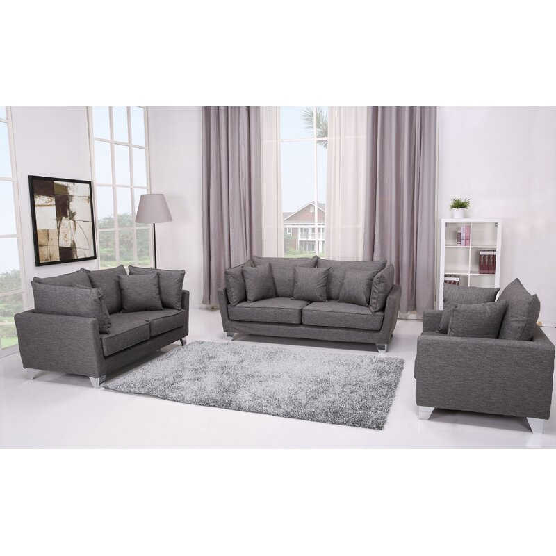 Gold Sparrow Lexington 3 Piece Living Room Set Wayfair