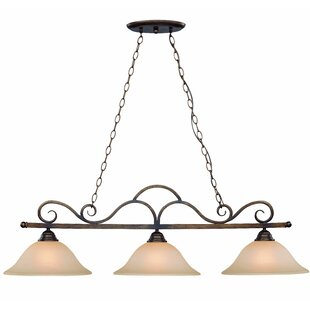 Looking for Charter Oak Bowl Shade 3-Light Pendant By Fleur De Lis Living