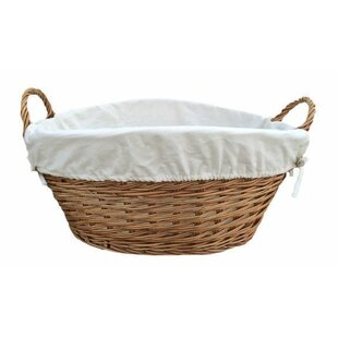 Wicker Laundry Basket With White Lining By Brambly Cottage