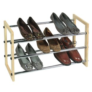 Great Price 3 Tier Expandable-Stackable Shoe Rack By Richards Homewares