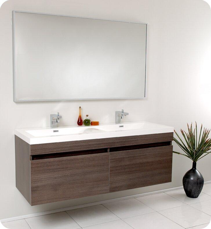 Double Bathroom Vanity Set With Mirror
