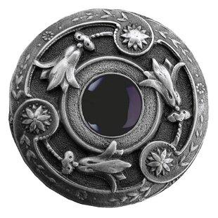 Jeweled Lily Victorian Romantic Natural Stone Center Knob