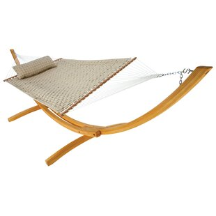 Frank Softweave Quilted Double Tree Hammock with Stand by Breakwater Bay