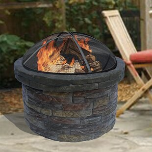 Allensville Stone Wood Burning Fire Pit By Wrought Studio