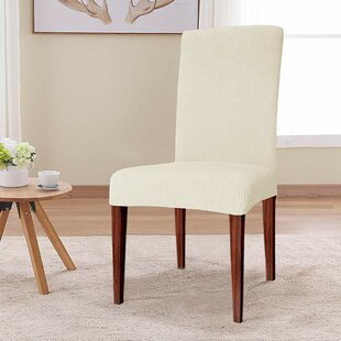 Elegant Knitting Box Cushion Dining Chair Slipcover