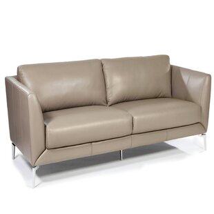 Keene Leather Loveseat by ..