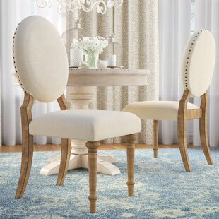 Baggett Oval Upholstered Dining Chair (Set of 2)