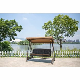 Flavin Garden Canopy Lounger Porch Swing with Stand by Red Barrel Studio