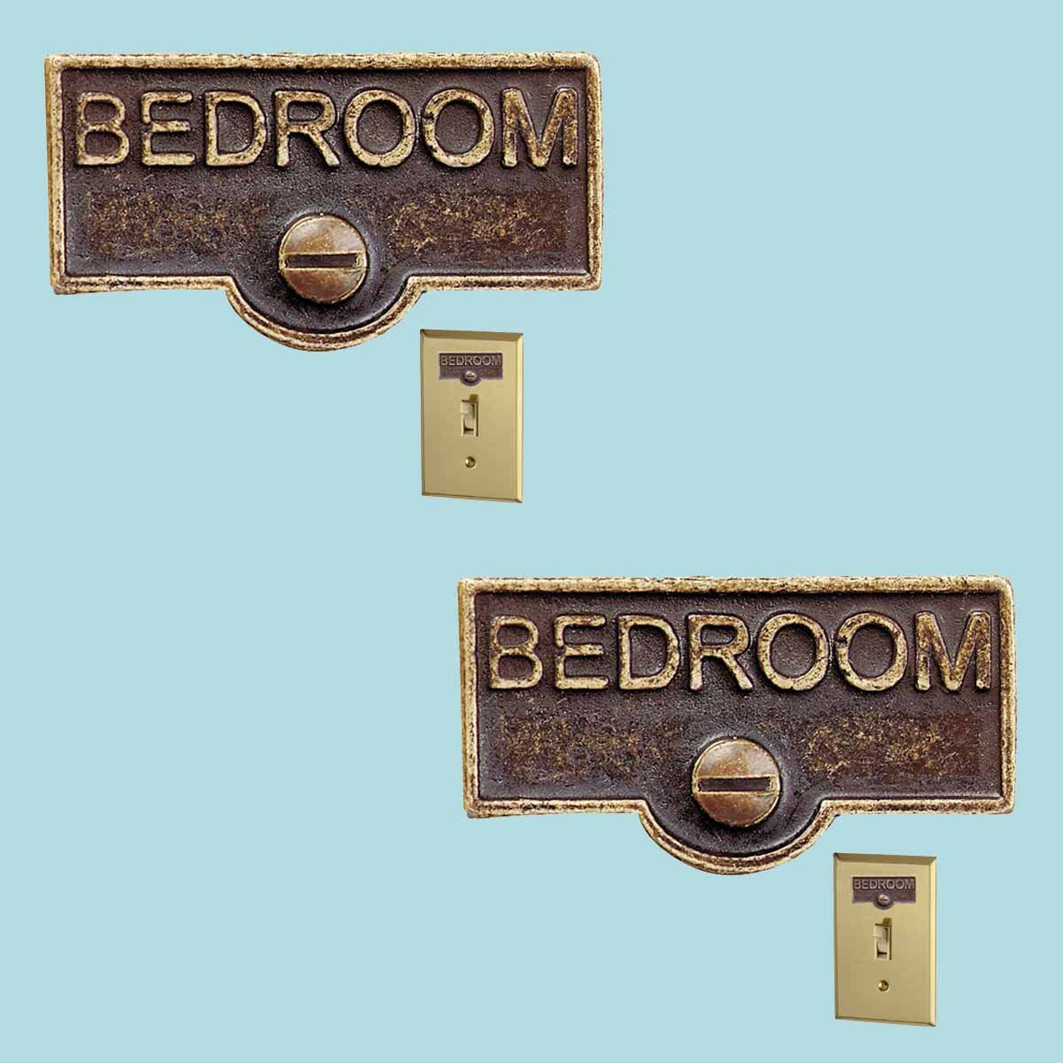The Renovators Supply Inc Bedroom Name Signs Labels Switch Plate Tag Wayfair