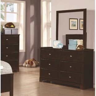 Downing 6 Drawer Double Dresser with Mirror by Mack & Milo
