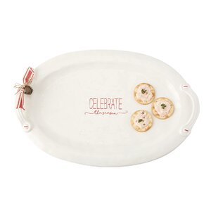 Celebrate the Season Oval Holiday Platter