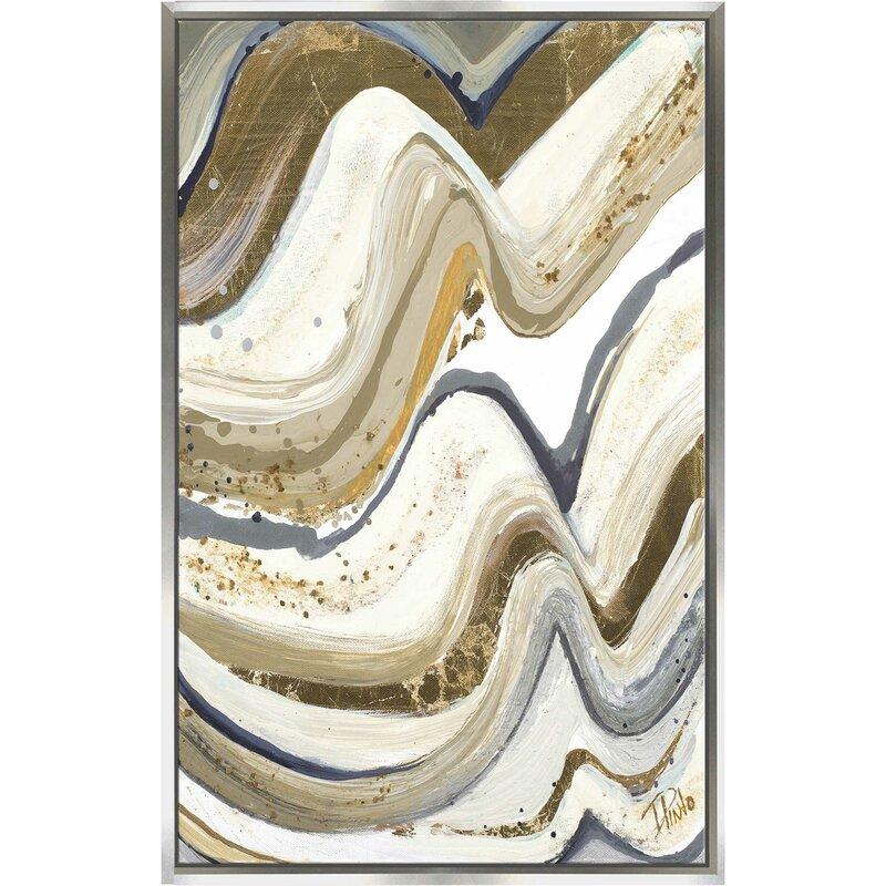 Wrought Studio New Concept Neutral Framed Acrylic Painting Print On Canvas Wayfair