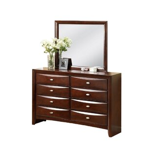 Corktown 8 Drawer Double Dresser with Mirror