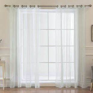Attell Solid Sheer Grommet Curtain Panels (Set of 2) by Darby Home Co