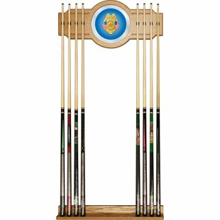 Police Officer Billiard Cue Rack with Mirror by Trademark Global