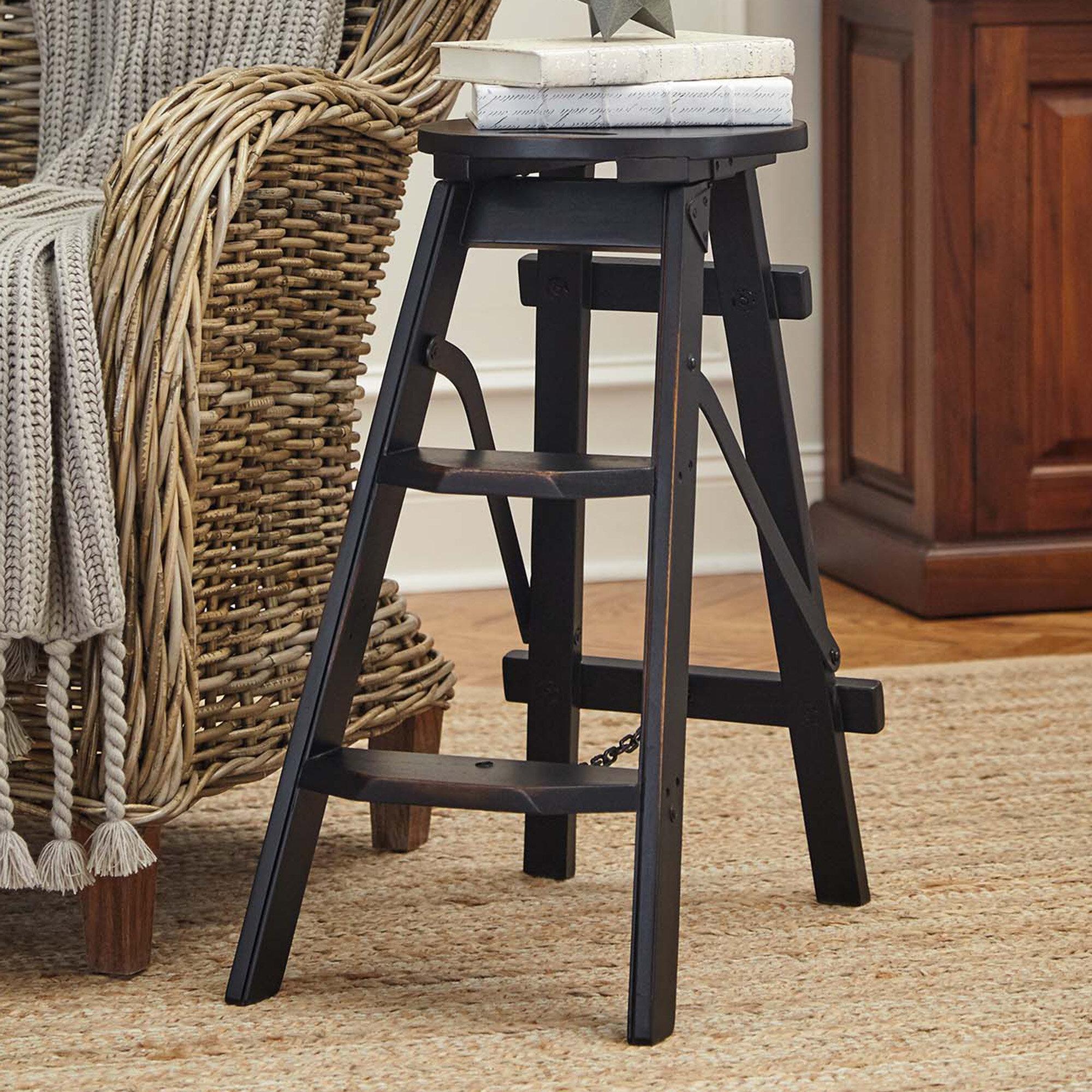 Brilliant Sayers 2 Steps Wood Step Stool With 200 Lb Load Capacity Inzonedesignstudio Interior Chair Design Inzonedesignstudiocom
