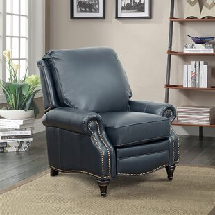 Midbury Leather Manual Recliner by Darby Home Co
