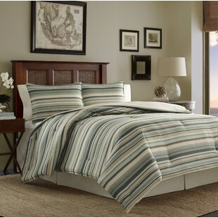 Tommy Bahama Home Canvas Stripe 3 Piece Duvet Cover Set by Tommy Bahama Bedding