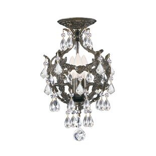 Astoria Grand Markenfield 3-Light Semi Flush Mount