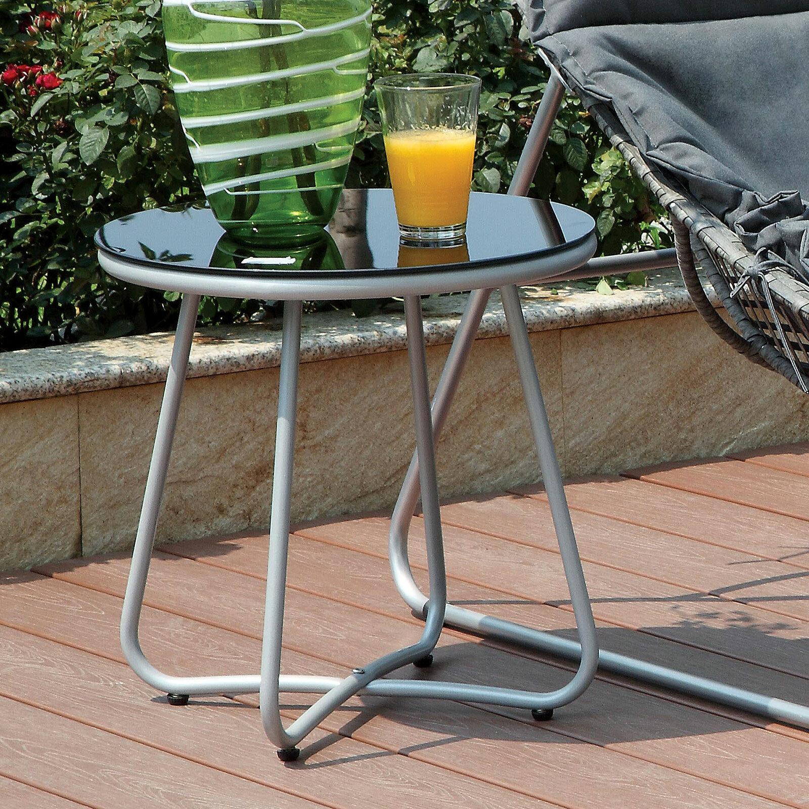 Ebern Designs Draco Glass Side Table Wayfair