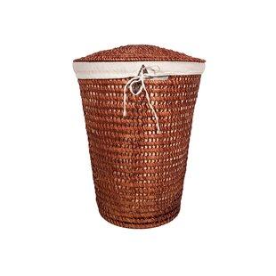 Wicker Laundry Basket By August Grove