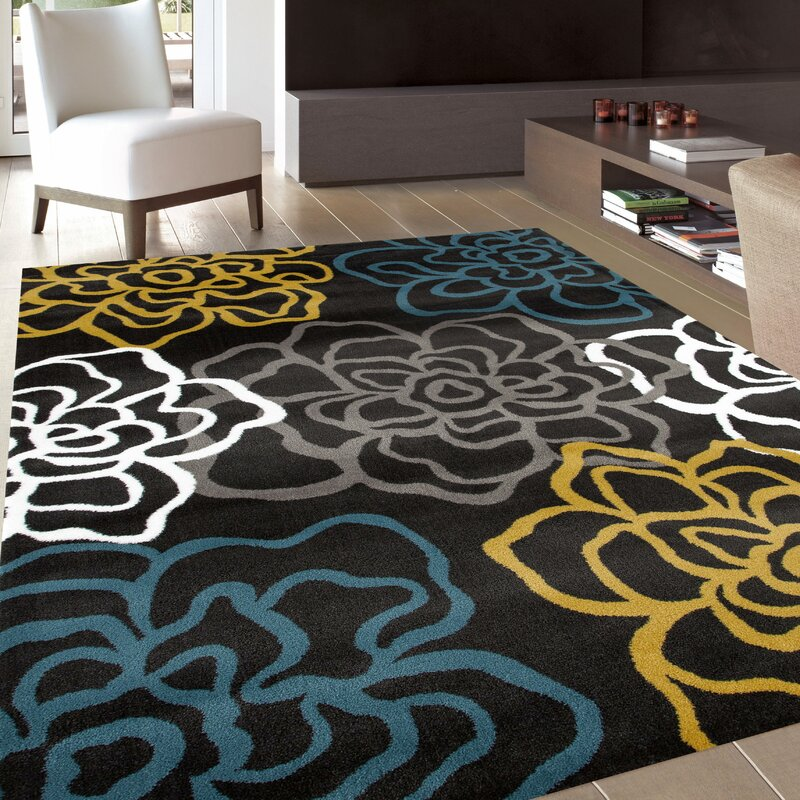 Sharen Yellow Gray Area Rug