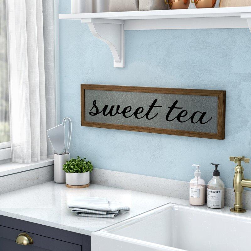 Laurel Foundry Modern Farmhouse Sweet Tea Galvanized Metal Wall Décor Reviews Wayfair