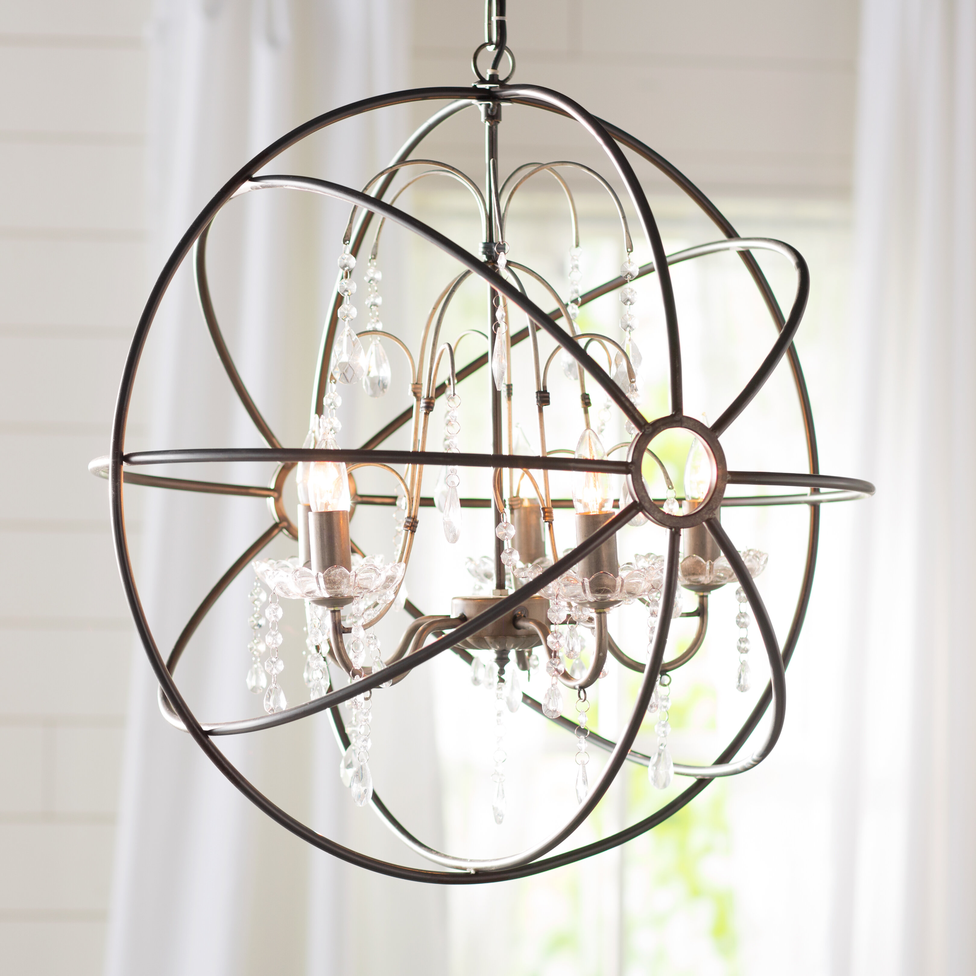 sphere finish cfm inch with wide chandelier light item lighting bronze troy crystals shown capitol byron in vintage