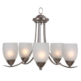 Charlton Home Monrovia 5-Light Shaded Chandelier