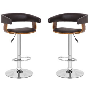 Mcfarlin Adjustable Height Swivel  Bar Stool - set of 2 (Set of 2) by Orren Ellis