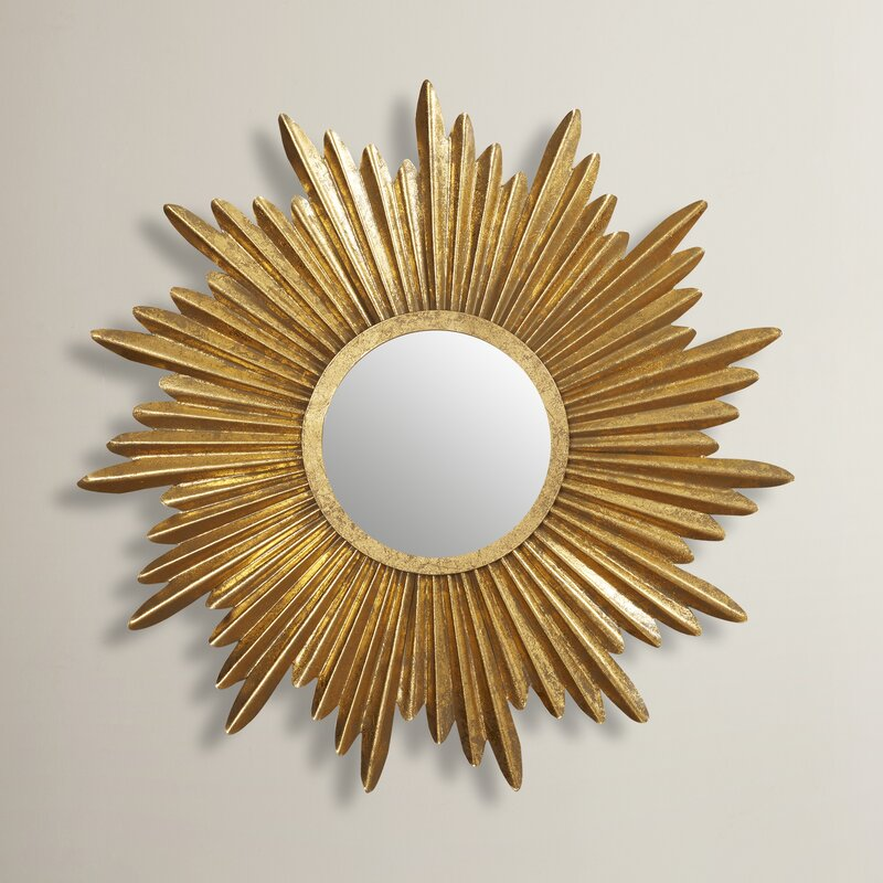 Sunburst Wall Mirror willa arlo interiors traditional sunburst wall mirror & reviews