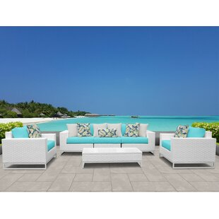 Miami 6 Piece Sofa Set with Cushions