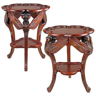 Dragonfly Traditional Occasional End Table (Set of 2)