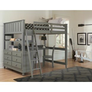 Adult Full Loft Bed With Desk | Wayfair