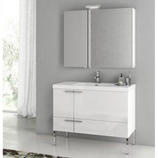 New Space 39.2 Single Bathroom Vanity Set with Mirror