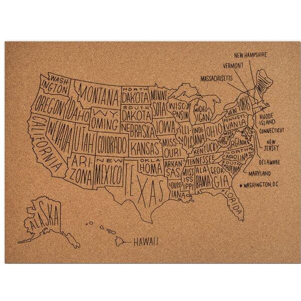 World Map Cork Board | Wayfair