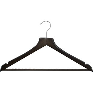 Best Reviews Hodges Square Topped Wood Non Slip Hanger (Set of 100) By Rebrilliant