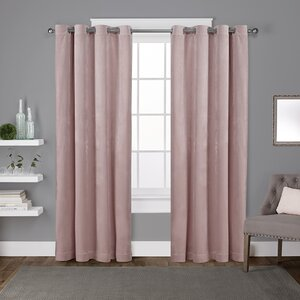 Rossum Solid Room Darkening Grommet Curtain Panels (Set of 2)