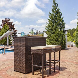 Elizabethtown Outdoor 3 Piece Bar Set