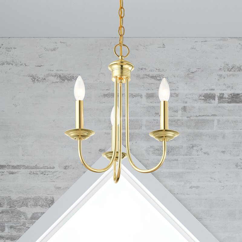 Andover Mills Newby 3 Light Candle Style Linear Chandelier Wayfair