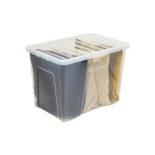 Crystal 80 L Plastic Storage Box (Set Of 3) By Wayfair Basics