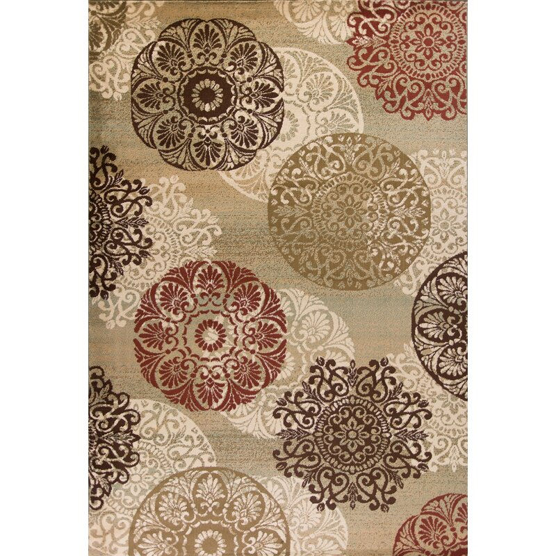Andover Mills Ansley Beige Brown Red Area Rug Amp Reviews