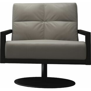 Clarkson Swivel Lounge Chair by Modloft Black