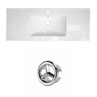 Best Price Flair Ceramic 49 Single Bathroom Vanity Top ByRoyal Purple Bath Kitchen