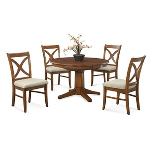 Hues 5 Piece Solid Wood Dining Set Braxton Culler